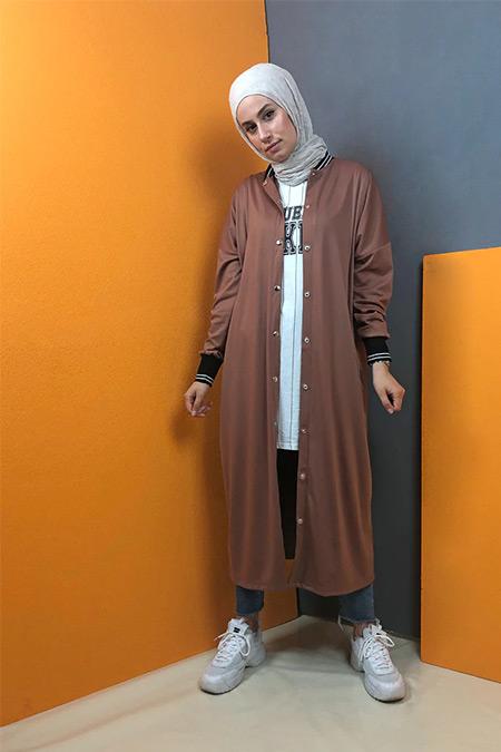 Aydazen Taba Ribanalı Uzun Sweatshirt