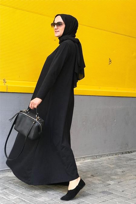 Bukez Design Siyah Penye Elbise