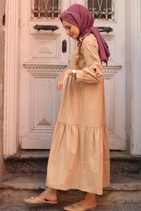 Gizce Bej Elbise