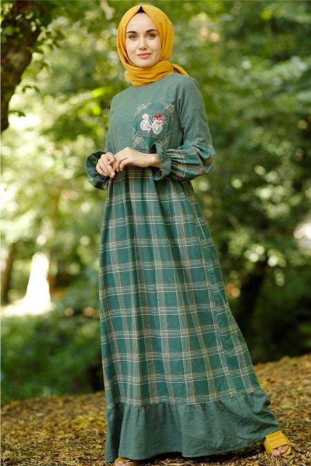 Gizce Haki Elbise