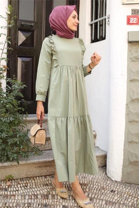 Gizce Yeşil Elbise