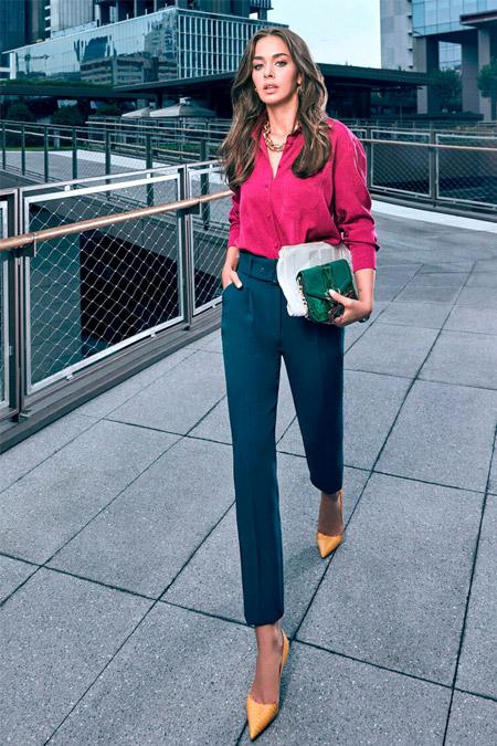 Koton Yeşil Kemerli Havuç Kesim Pantolon