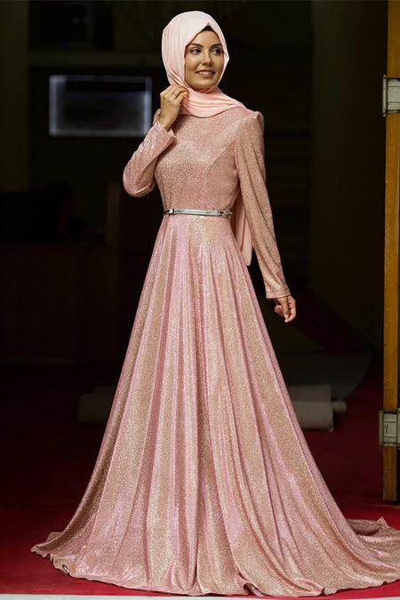 Nurgül Çakır Pudra Işıl Abiye Elbise