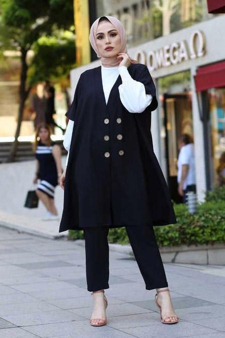 Elif & Co Siyah Ceket Pantolon Bluz Takım