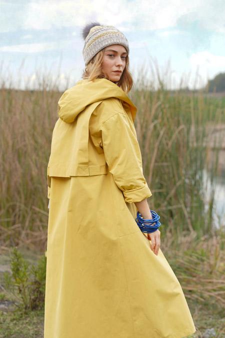 HE-QA Sarı Kapüşonlu Yağmurluk