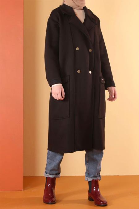 HE-QA Siyah Şardonlu Ceket
