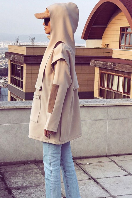 Just Hijab Collection Bej Sweat