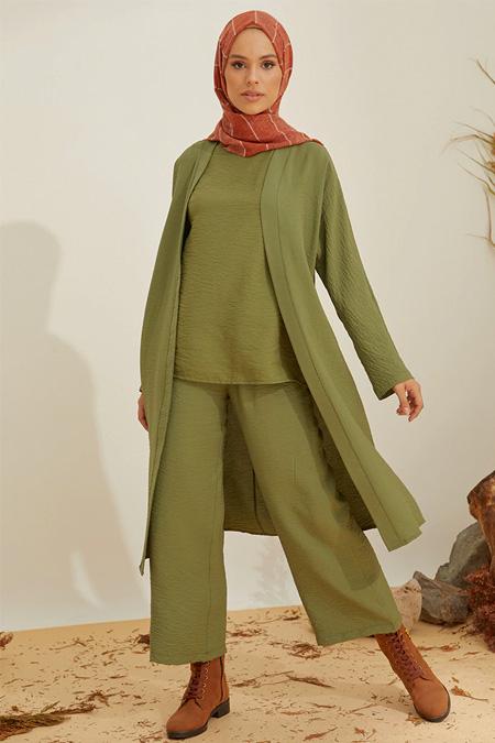 Mnatural Haki Kimono Kap
