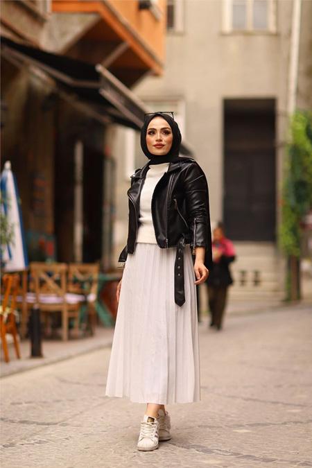 ModaBahar Siyah Deri Ceket