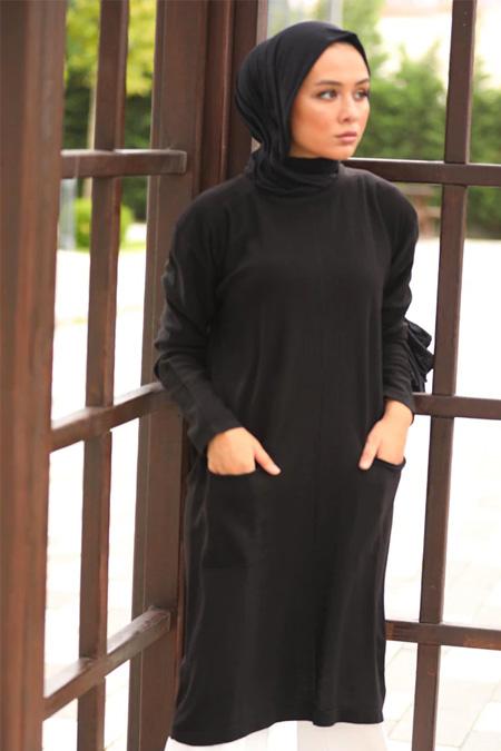 Neways Siyah Triko Tunik