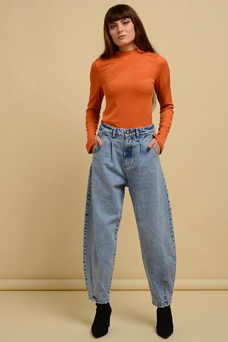 DE-MİM Açık Mavi Slouchy Fit Denim Pantolon