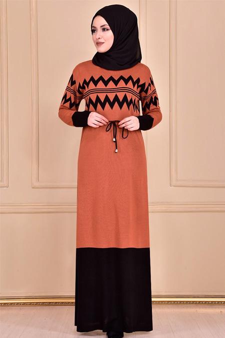 Modamerve Kiremit Elbise