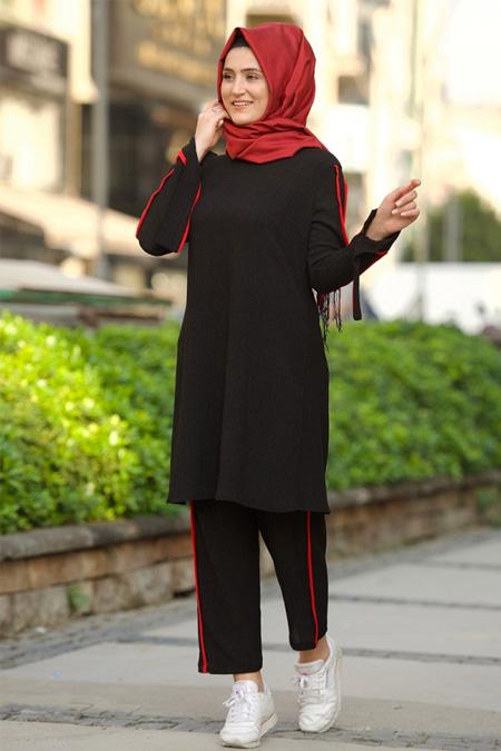 Nurgül Çakır Kırmızı Siyah Sıla İkili Takım