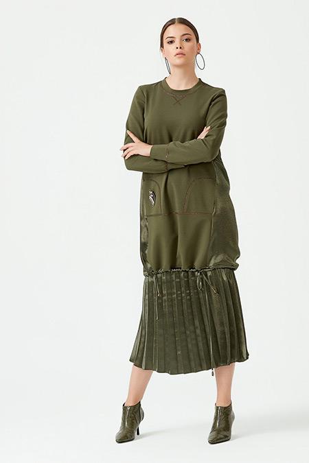 SCL Yeşil Sırtı Parlak Tunik