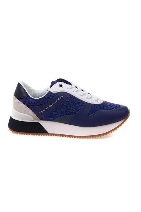 Tommy Hilfiger Simli Taban Beyaz Sneaker