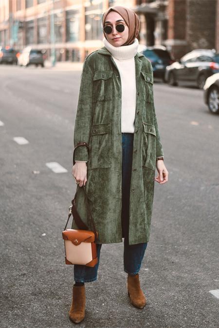 HE-QA Yeşil Kadife Ceket