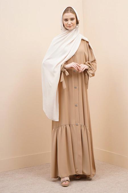 Al Sheikha Vizon Taşlı V Yakalı Ferace