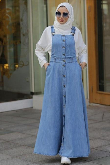 Neways Mavi Salopet Elbise