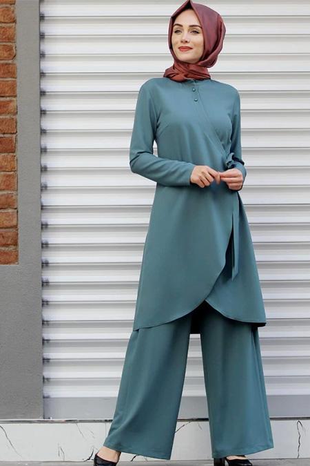 Puqqa Su Yeşili Marin Pantolon & Tunik İkili Takım