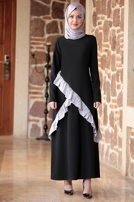 Emsale Siyah Şirin Elbise