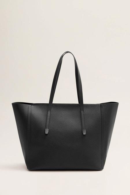 Mango Siyah Shopper Çanta