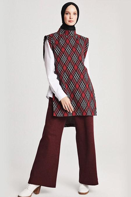 Muni Muni Bordo Pantolon Tunik Takım