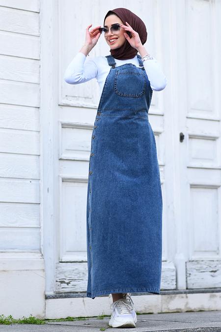 Neways Koyu Gri Kot Elbise