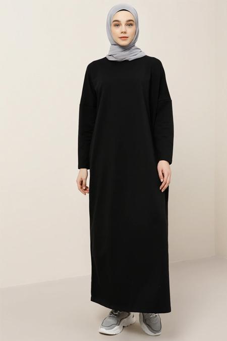 Benin Siyah Cep Detaylı Elbise