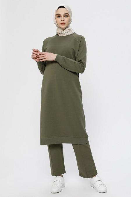 Everyday Basic Orman Yeşili Tunik & Pantolon Takım