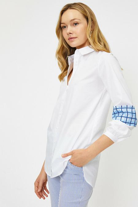 Koton Beyaz Kol Detaylı Tunik