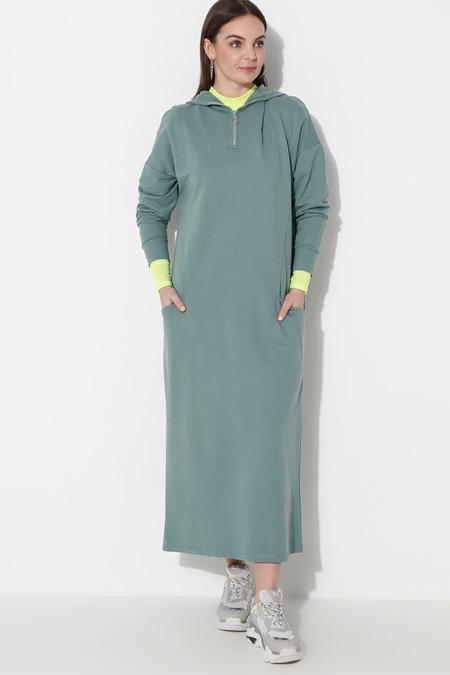 Laruj Çağla Kapüşonlu Elbise
