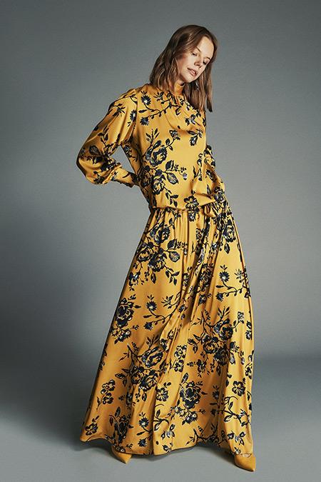 Latifa Safran-Siyah Mayce Gipeli Elbise