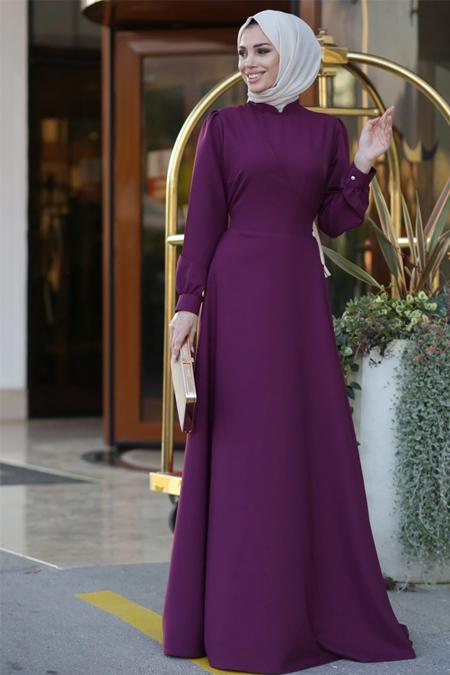 Lavienza Mürdüm Kruvaze Elbise