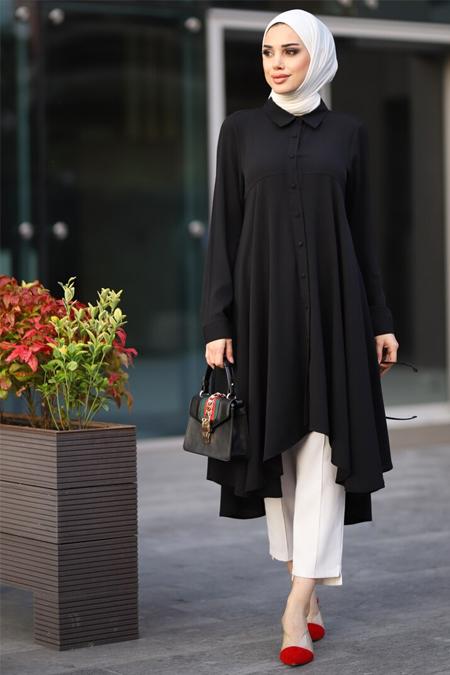 Lavienza Siyah Robalı Tunik