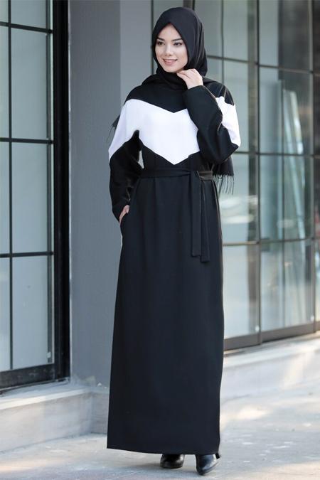 Meys Siyah Garnili Spor Elbise