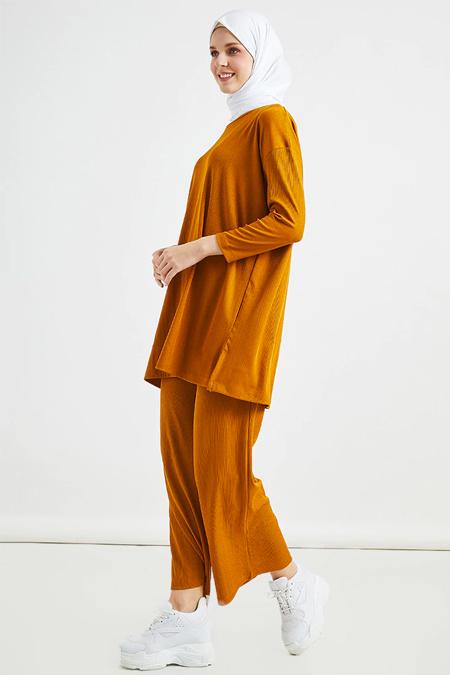Muni Muni Hardal Basic Tunik & Pantolon İkili Takım