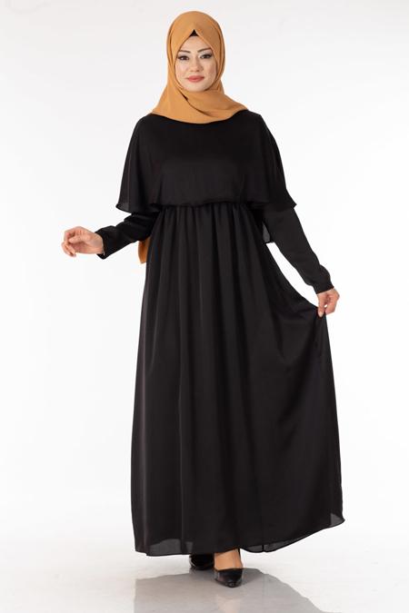 Siyah Bolerolu Tesettür Elbise
