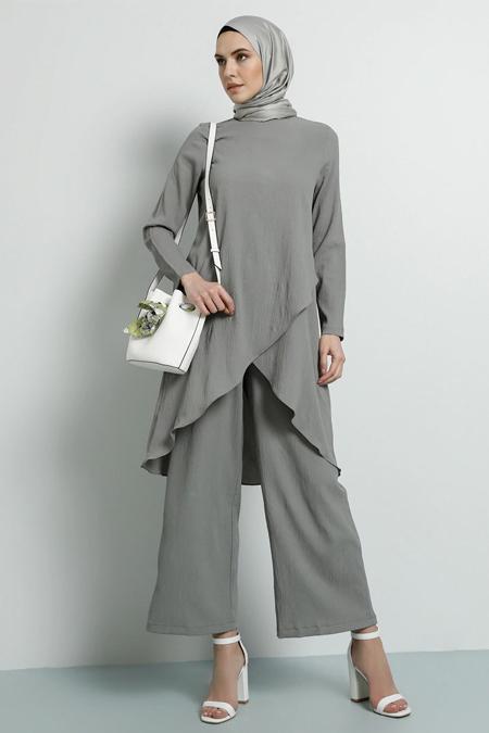 Tavin Gri Tunik & Pantolon İkili Takım