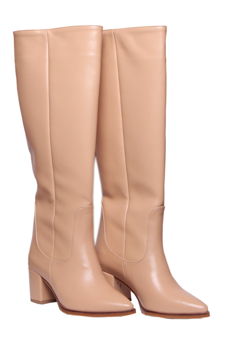 Trendbu Ayakkabı Nude Kadın Çizme