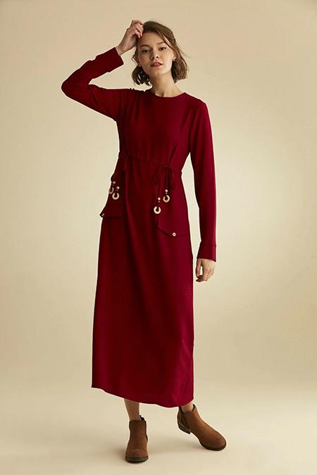 Venn Bordo Elbise