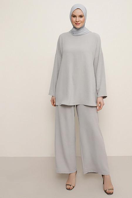 Alia Gri Tunik&Pantolon İkili Takım