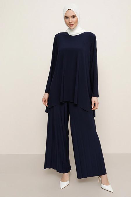 Alia Lacivert Tunik&Pantolon İkili Takım