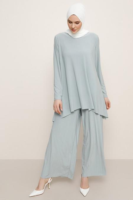 Alia Su Yeşili Tunik&Pantolon İkili Takım
