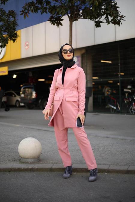 Emma Butiq Belli Lastikli Pembe Takım