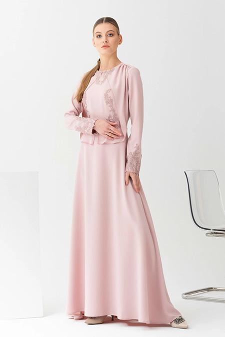 Gönül Kolat Pudra Narin Abiye Elbise