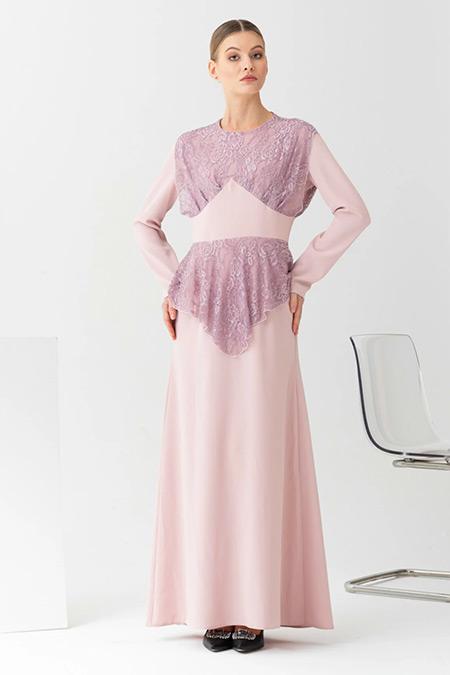 Gönül Kolat Pudra Sim Kort Abiye Elbise