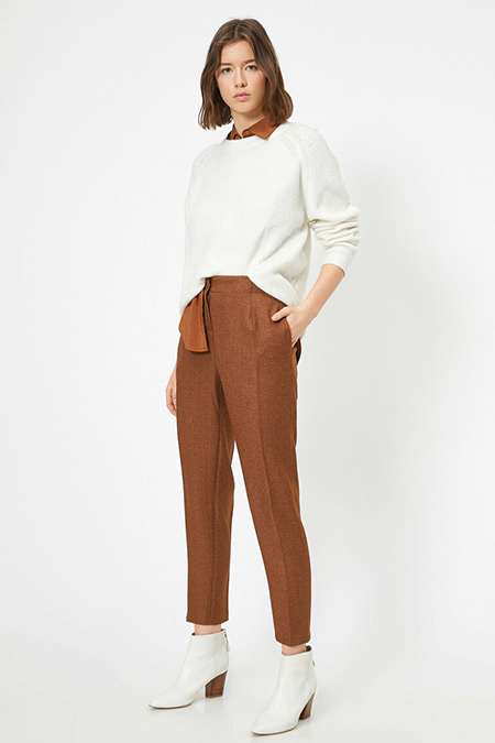 Koton Kahve Cep Detaylı Pantolon