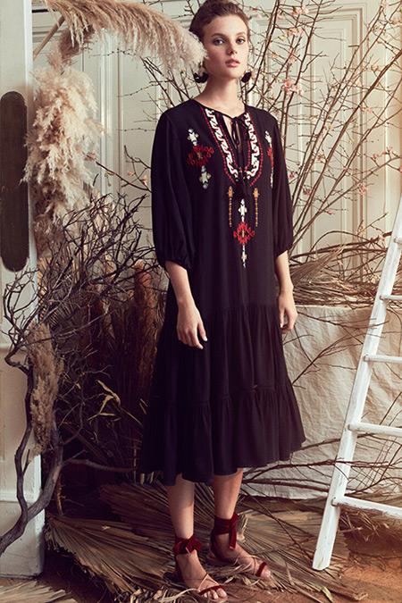 Koton Siyah El Emeği Elbise