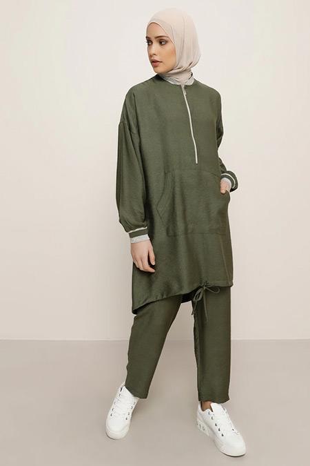 Refka Haki Tunik&Pantolon İkili Takım