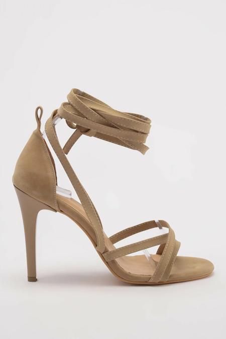Trendyolmilla Bej Süet Kadın Klasik Topuklu Ayakkabı